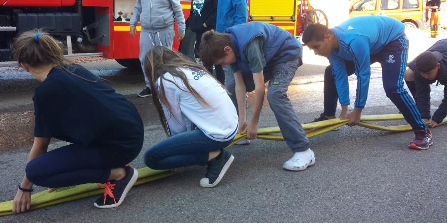 Visite de l'Ecole des officiers pompiers